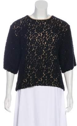 Chloé Lace Short Sleeve Top