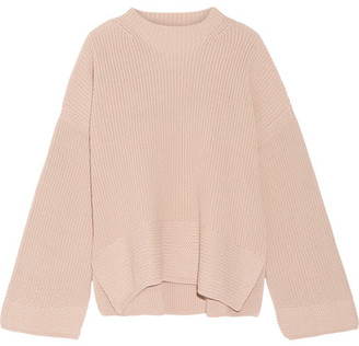 Elizabeth and James - Aimee Cotton-blend Sweater - Beige $445 thestylecure.com