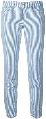 striped crop jeans