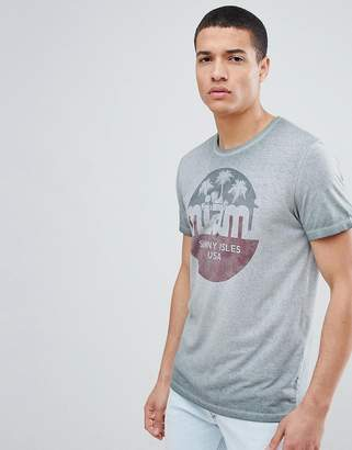 Jack and Jones Originals T-Shirt With Vintage Miami Graphic