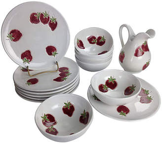 One Kings Lane Vintage Italian Strawberry Snack Set - Svc for 6 - Auctiondogs505