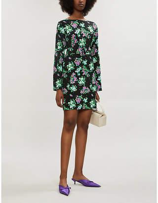 MONICA BERNADETTE floral-print stretch-jersey mini dress