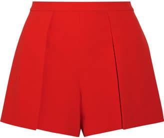 Alice + Olivia Alice Olivia - Larissa Draped Crepe Shorts - Red $260 thestylecure.com