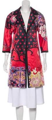 Etro Floral Print Knee-Length Coat