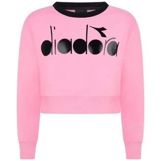 Diadora DiadoraGirls Pink Wide Fit Logo Sweater