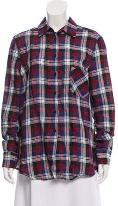 Rachel Comey Plaid Button-Up Top