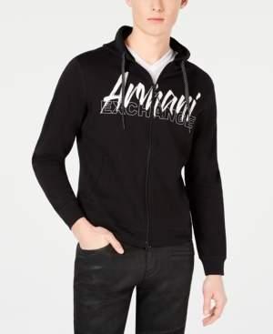 Armani Exchange Men's Logo Graphic Lightweight Hoodie