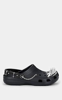 Barneys New York XO Crocs Women's Spiked-Toe Rubber Clogs - Black