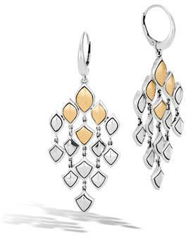 John Hardy Legends Naga 18k Gold Chandelier Earrings
