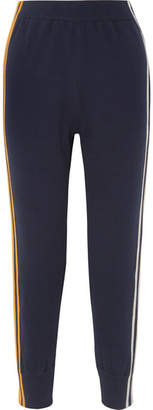 Sjyp Striped Knitted Track Pants - Navy