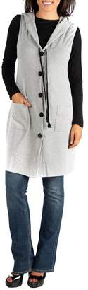 24\u002F7 Comfort Hooded Button Down Cardigan