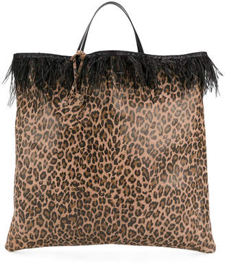 Leopard Print Tote Bag Woman Mango Mongolia