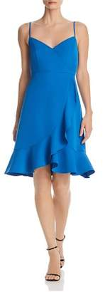 Aqua Flounced Crossover Dress - 100% Exclusive