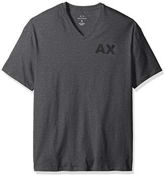 Armani Exchange A|X Men's V Neck Tee with Back Bottom Logo