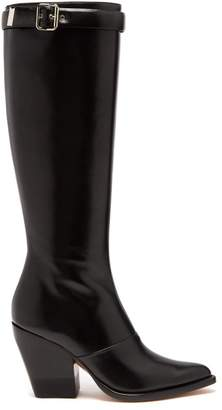 Chloé - Knee High Leather Boots - Womens - Black