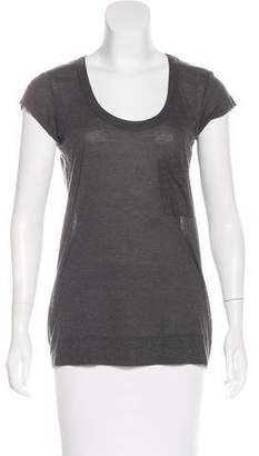 A.L.C. Short Sleeve Scoop Neck T-Shirt
