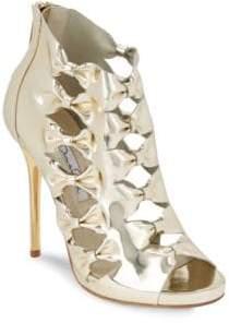 Oscar de la Renta Talina Metallic Peep Toe Sandals
