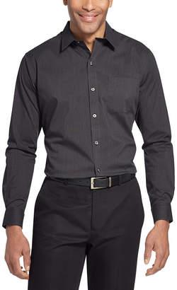 Van Heusen Traveler Long Sleeve Slim Stretch Shirt Long Sleeve Stripe Button-Front Shirt-Slim