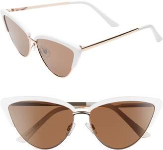 Leith Mixed Media Flat Cat Eye Sunglasses