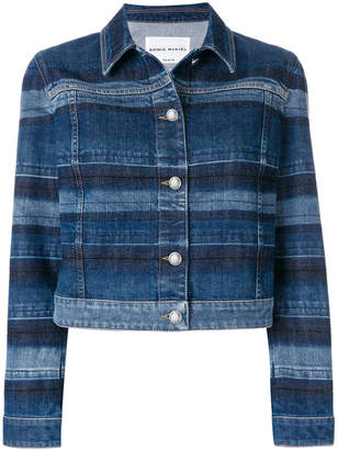 Sonia Rykiel washed striped denim jacket