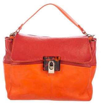 Lanvin Bicolor Leather Satchel