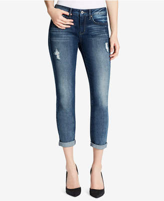 Jessica Simpson Forever Roll Cuffed Ripped Skinny Jeans