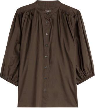 Closed Draped Cotton Shirt