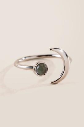 francesca's Sabrina Moon Mood Ring - Silver