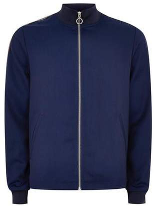 Topman Mens Bright Blue Track Top with Side Taping