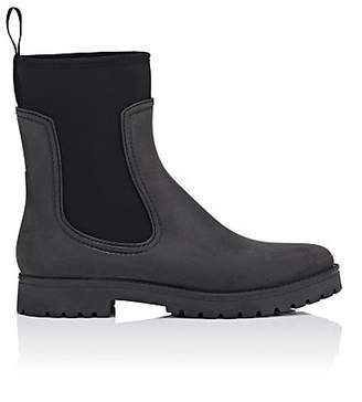 Barneys New York Women's Rubber & Neoprene Ankle Boots - Black