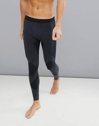 Asos 4505 4505 running tights with seamless knit and acid wash