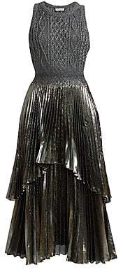 Altuzarra Women's Mishka Pleated Knit Midi Dress