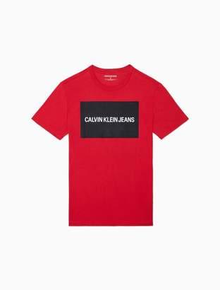 Calvin Klein logo block crewneck t-shirt