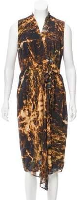 Kimberly Ovitz Printed Wrap Dress