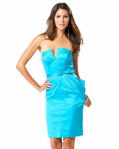 Glamour Satin Bustier Dress