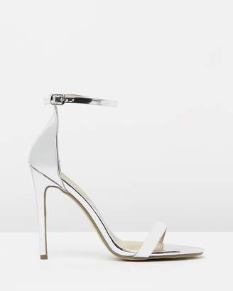 Missguided Flat Two Strap Barely There Heels