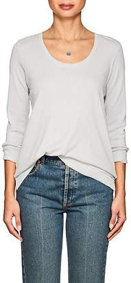 Lilla P WOMEN'S RIB-KNIT-TRIMMED PIMA COTTON LONG-SLEEVE T-SHIRT