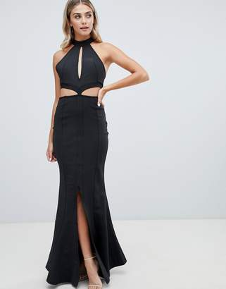 Missguided bandage keyhole maxi dress