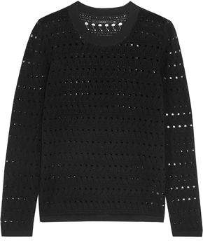 J Brand Colony Pointelle-Knit Cotton And Cashmere-Blend Sweater