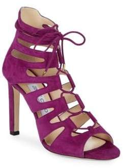 Jimmy Choo Hitch Suede Lace-Up Sandals