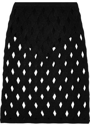 Herve Leger Robyn Cutout Bandage Skirt