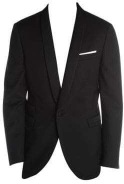 Neil Barrett Microstructure Virgin Wool-Blend Tuxedo Jacket