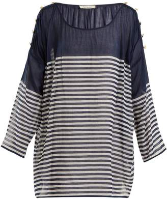 Mes Demoiselles Franklin striped cotton top