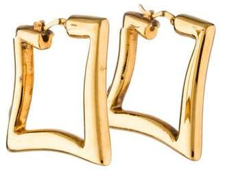 18K Square Hoop Earrings
