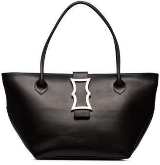 Dorateymur black lament leather tote bag