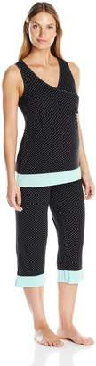 Lamaze Women's 2 Piece Tank and Capri Pant Set