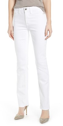 7 For All Mankind JEN7 by Faux Pocket Slim Straight Leg Jeans