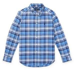 Ralph Lauren Boy's Plaid Long-Sleeve Collared Shirt