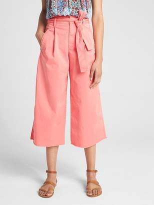 Gap Wearlight Crop Tie-Waist Wide-Leg Chinos