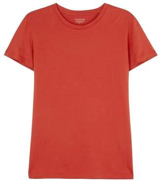 Vince Essential Dark Orange Pima Cotton T-shirt